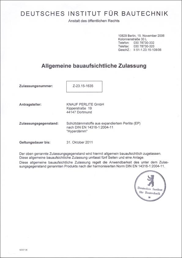 Hyper Dammtechnik Zulassung Zertifikate Hagebaucentrum